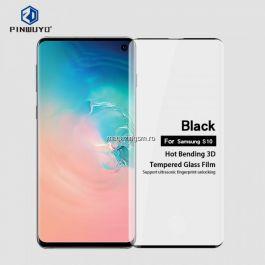 Folie Sticla Samsung Galaxy S10 Protectie Display Neagra