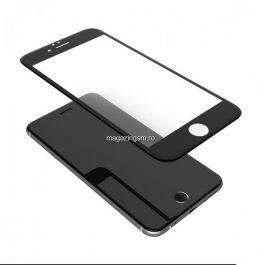 Geam Folie Sticla Protectie Display iPhone 6s Acoperire Completa Negru 6D