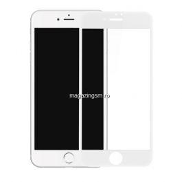 Folie Sticla Protectie Display iPhone 7 iPhone 8 Acoperire Completa 6D Alb