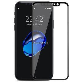 Geam Folie Sticla Protectie Display iPhone X / XS / 11 Pro Acoperire Completa Negru 6D