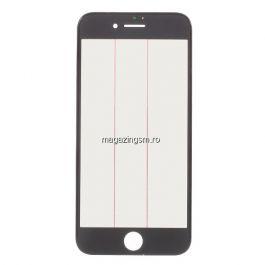 Geam iPhone 7 Cu Rama si Adeziv Sticker Negru