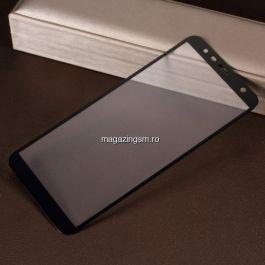 Geam Protectie Display Samsung Galaxy J4 Plus 2018 Acoperire Completa Negru