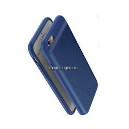 Husa Acumulator Extern iPhone 7 / 6s / 6 Power Bank 5000mAh Albastra