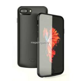 Husa Acumulator Extern iPhone 7 Plus/ 8 Plus Power Bank 5500mAh Neagra