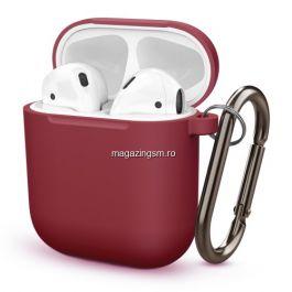 Husa Casti Apple AirPods Rosu Inchis