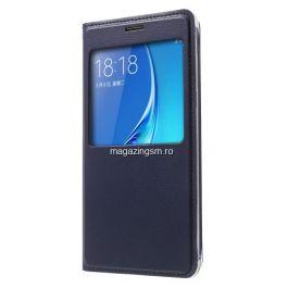 Husa Flip Cu Fereastra Samsung Galaxy J5 J510F Albastru Inchis