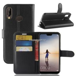 Husa Flip Cu Stand Huawei P20 Lite Neagra