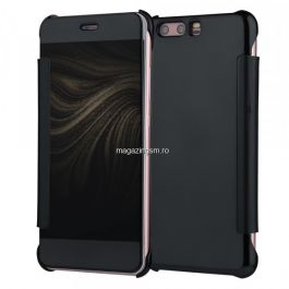 Husa Huawei P10 Lite Flip Oglinda Neagra