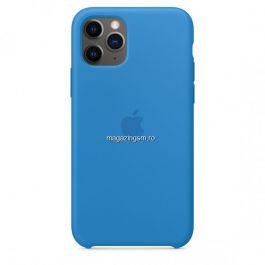 Husa iPhone 11 Pro Max Silicon Cu Protectie Camera Sky Blue