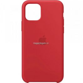 Husa iPhone 11 Silicon Cu Protectie Camera Red