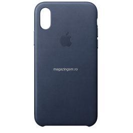 Husa iPhone X / XS Piele Cosmos Blue
