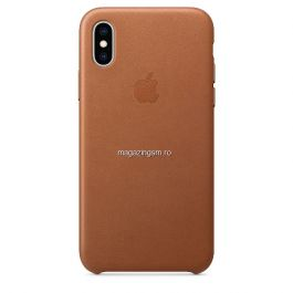 Husa iPhone X / XS Piele Saddle Brown