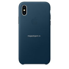 Husa iPhone XS Max Piele Cosmos Blue