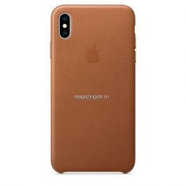 Husa iPhone XS Max Piele Saddle Brown