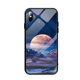 Husa iPhone X Cu Spate Din Sticla Colorata