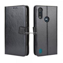 Husa Motorola Moto E6S Flip Cu Stand Neagra