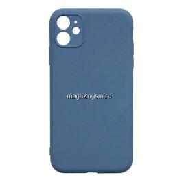 Husa Protectie iPhone 11 Pro Max Silicon Cu Protectie Camera Sky Blue