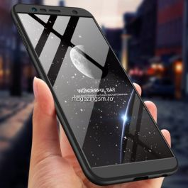 Husa Samsung Galaxy J4 Plus 2018 Acoperire Completa 360 De Grade Matuita Neagra
