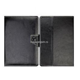 Husa Tableta Samsung Asus Huawei iPad Flip Cu Stand Neagra