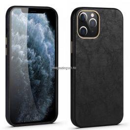 Husa Apple iPhone 12 Mini, piele ecologica, Negru