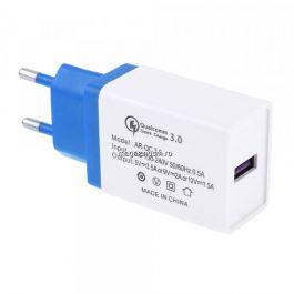 Incarcator Retea 3,5 A QC 3,0 Cu Mufa USB Albastru