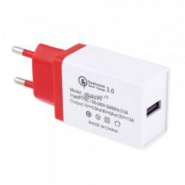 Incarcator Retea 3,5 A QC 3,0 Cu Mufa USB Rosu