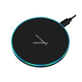 Incarcator Wireless 10W Samsung iPhone Huawei Xiaomi Universal Negru