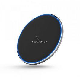 Incarcator Wireless 10W, Subtire, Negru