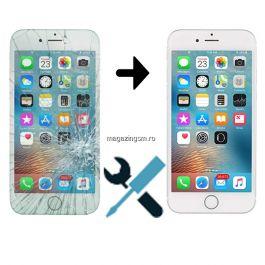 Inlocuire Display iPhone 6s Plus Alb (Manopera + Ecran)