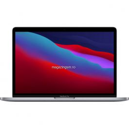Laptop Apple MacBook Pro 13Inch, procesor Apple M1 8-core, 256GB, 8GB RAM - Space Grey