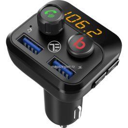 Modulator FM Bluetooth Tellur FMT-B8 USB MicroSD Negru