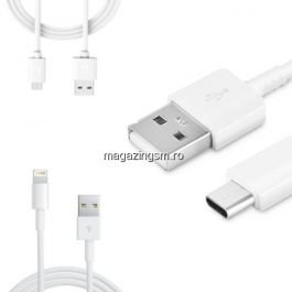 Pachet Cabluri Date Si Incarcare MicroUSB + Type C + Lightning (9buc)