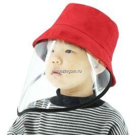 Palarie Cu Viziera De Protectie Pentru Copii PULUZ PU471 Rosu