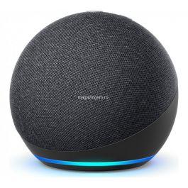 RESIGILAT Boxa inteligenta Amazon Echo Dot 4, Control Voce Alexa, Wi-Fi, Bluetooth, Negru
