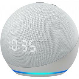 RESIGILAT Boxa inteligenta cu ceas Amazon Echo Dot 4, Control Voce Alexa, Wi-Fi, Bluetooth, Alb