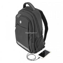 Rucsac laptop Tellur Companion Cu port USB 15,6 inchi Negru