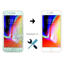 Schimbare Display iPhone 7 Plus Alb (Manopera + Ecran)