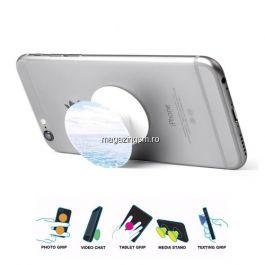Suport Telefon Finger Grip iPhone Samsung Huawei Albastru