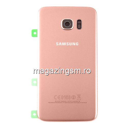 f0569de8cee Capac Baterie Spate Samsung Galaxy S7 edge G935 Cu Adeziv Sticker Rose Auriu