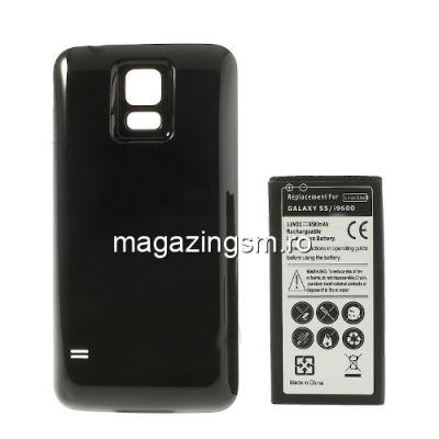 Acumulator De Putere Samsung Galaxy S5 G900 Cu Capac Baterie Spate Negru