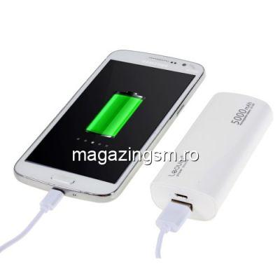 Acumulator Extern Huawei Samsung HTC Nokia iPhone BlackBerry Sony iPad iPod LG LEYOU Power Bank 5000mAh Alb