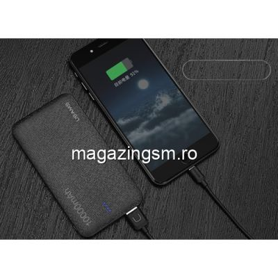Acumulator Extern iPhone iPad Samsung Huawei HTC LG Power Bank Dual USB 10000mAh USAMS Mozaic Negru