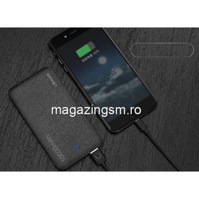 Acumulator Extern iPhone 6s Dual USB 10000mAh USAMS Mozaic Negru