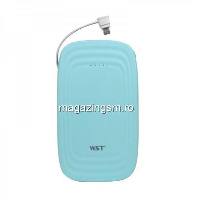 Acumulator Extern Samsung iPhone HTC Nokia LG Huawei Allview 10000mAh WST Albastru