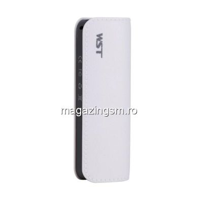 Acumulator Extern Samsung iPhone HTC Nokia LG Huawei Allview Power Bank 2600mAh WST Alb
