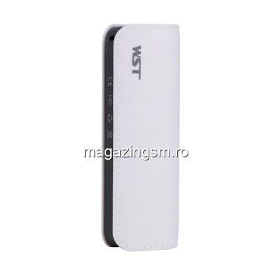 Acumulator Extern Samsung iPhone HTC Nokia LG Huawei Allview Power Bank 2600mAh WST Alb