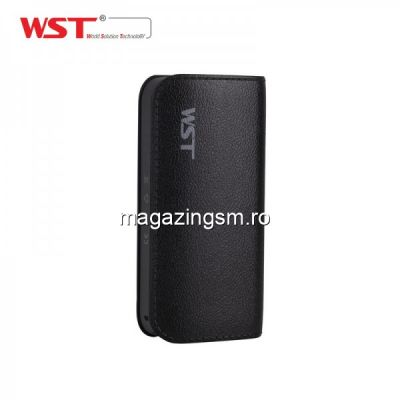 Acumulator Extern Samsung iPhone HTC Nokia LG Huawei Allview Power Bank 5200mAh WST Negru