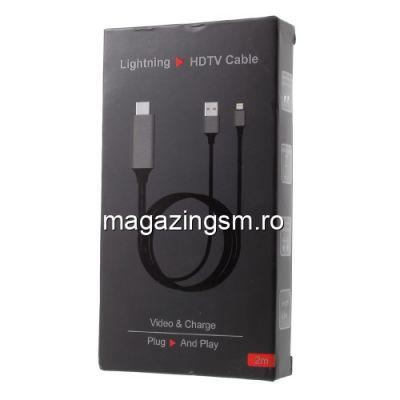 Adaptor iPhone Lightning La HDMI Negru