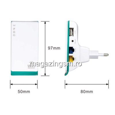 Adaptor Pentru Marirea Razei Semnalului Wireless Dual-Port