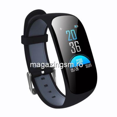 Ceas Smartwatch Fitness Digital Negru